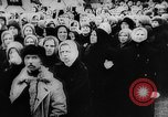 Image of massed crowd parading Moscow Russia Soviet Union, 1924, second 35 stock footage video 65675052607