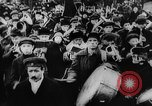 Image of massed crowd parading Moscow Russia Soviet Union, 1924, second 39 stock footage video 65675052607
