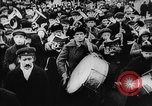 Image of massed crowd parading Moscow Russia Soviet Union, 1924, second 43 stock footage video 65675052607