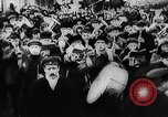 Image of massed crowd parading Moscow Russia Soviet Union, 1924, second 47 stock footage video 65675052607