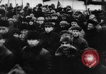 Image of massed crowd parading Moscow Russia Soviet Union, 1924, second 58 stock footage video 65675052607
