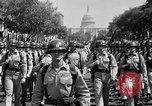 Image of American Legionnaires parade Washington DC USA, 1954, second 25 stock footage video 65675052612
