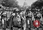 Image of American Legionnaires parade Washington DC USA, 1954, second 26 stock footage video 65675052612