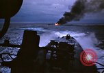 Image of Japanese ship burning from American submarine attack Palau Islands, 1945, second 34 stock footage video 65675052652
