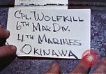 Image of 6th Marine Division 4th Marines Okinawa Ryukyu Islands, 1945, second 1 stock footage video 65675052853