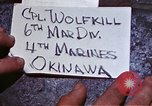 Image of 6th Marine Division 4th Marines Okinawa Ryukyu Islands, 1945, second 2 stock footage video 65675052853