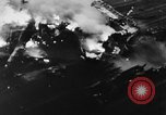 Image of USS Hancock on fire Pacific Ocean, 1945, second 16 stock footage video 65675052932