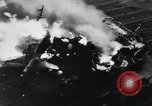 Image of USS Hancock on fire Pacific Ocean, 1945, second 18 stock footage video 65675052932