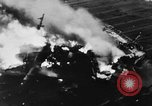 Image of USS Hancock on fire Pacific Ocean, 1945, second 19 stock footage video 65675052932