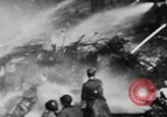Image of USS Hancock on fire Pacific Ocean, 1945, second 26 stock footage video 65675052932