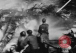 Image of USS Hancock on fire Pacific Ocean, 1945, second 27 stock footage video 65675052932