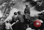 Image of USS Hancock on fire Pacific Ocean, 1945, second 28 stock footage video 65675052932