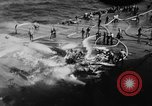 Image of USS Hancock on fire Pacific Ocean, 1945, second 35 stock footage video 65675052932