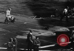 Image of USS Hancock on fire Pacific Ocean, 1945, second 45 stock footage video 65675052932