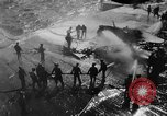 Image of USS Hancock on fire Pacific Ocean, 1945, second 59 stock footage video 65675052932