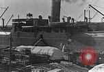 Image of US soldiers protect commodities sea port Vladivostok Russia, 1918, second 7 stock footage video 65675053025