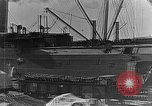 Image of US soldiers protect commodities sea port Vladivostok Russia, 1918, second 10 stock footage video 65675053025