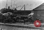 Image of US soldiers protect commodities sea port Vladivostok Russia, 1918, second 54 stock footage video 65675053025