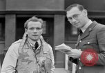 Image of RAF pilots briefing in Battle of Britain United Kingdom, 1940, second 34 stock footage video 65675053160