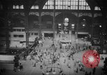 Image of Pennsylvania Railroad Station New York City USA, 1940, second 38 stock footage video 65675053166