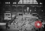 Image of Pennsylvania Railroad Station New York City USA, 1940, second 39 stock footage video 65675053166