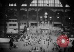 Image of Pennsylvania Railroad Station New York City USA, 1940, second 43 stock footage video 65675053166