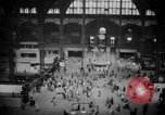 Image of Pennsylvania Railroad Station New York City USA, 1940, second 46 stock footage video 65675053166