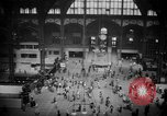Image of Pennsylvania Railroad Station New York City USA, 1940, second 47 stock footage video 65675053166