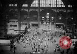 Image of Pennsylvania Railroad Station New York City USA, 1940, second 51 stock footage video 65675053166