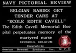 Image of memorial to Edith Cavell Brussels Belgium, 1920, second 2 stock footage video 65675053216