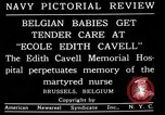 Image of memorial to Edith Cavell Brussels Belgium, 1920, second 3 stock footage video 65675053216