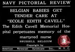 Image of memorial to Edith Cavell Brussels Belgium, 1920, second 14 stock footage video 65675053216