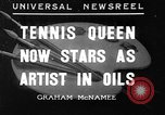 Image of tennis player Helen Wills Moody San Francisco California USA, 1936, second 1 stock footage video 65675053231