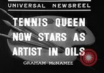 Image of tennis player Helen Wills Moody San Francisco California USA, 1936, second 2 stock footage video 65675053231