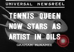 Image of tennis player Helen Wills Moody San Francisco California USA, 1936, second 5 stock footage video 65675053231