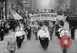 Image of May Day Parade New York City USA, 1941, second 6 stock footage video 65675053243