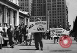 Image of picket line New York City USA, 1941, second 2 stock footage video 65675053245