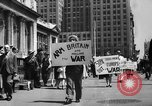 Image of picket line New York City USA, 1941, second 3 stock footage video 65675053245