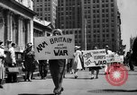 Image of picket line New York City USA, 1941, second 4 stock footage video 65675053245