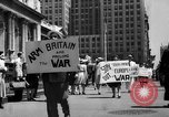 Image of picket line New York City USA, 1941, second 5 stock footage video 65675053245