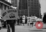 Image of picket line New York City USA, 1941, second 6 stock footage video 65675053245