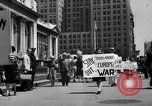 Image of picket line New York City USA, 1941, second 8 stock footage video 65675053245