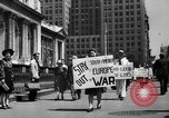 Image of picket line New York City USA, 1941, second 10 stock footage video 65675053245