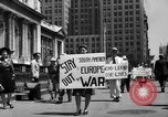 Image of picket line New York City USA, 1941, second 11 stock footage video 65675053245