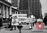Image of picket line New York City USA, 1941, second 12 stock footage video 65675053245