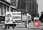 Image of picket line New York City USA, 1941, second 13 stock footage video 65675053245