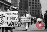 Image of picket line New York City USA, 1941, second 14 stock footage video 65675053245