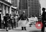 Image of picket line New York City USA, 1941, second 17 stock footage video 65675053245