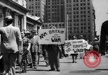 Image of picket line New York City USA, 1941, second 19 stock footage video 65675053245