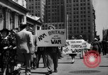 Image of picket line New York City USA, 1941, second 20 stock footage video 65675053245